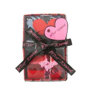 Betsey Johnson Mad Plaid Gift Box NWT